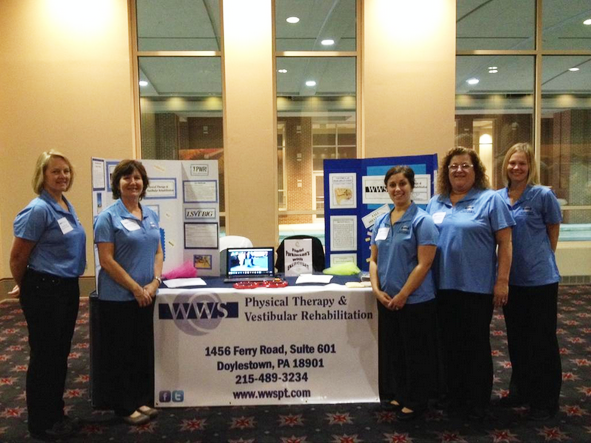 WWSPT Experts at the Parkinson's Event at the Philadelphia Convention Center as Partners