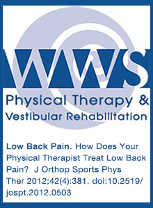 How Does Your Physical Therapist Treat Low Back Pain?