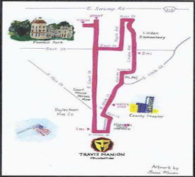 Travis Manyon Race Map
